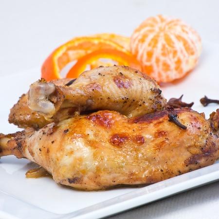 Chicken legs baked in oriental style