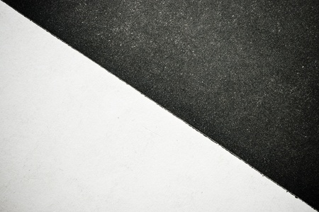 white sheet: Black and white divided paper