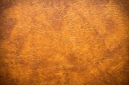 synthetic: Synthetic brown leather for background Stock Photo