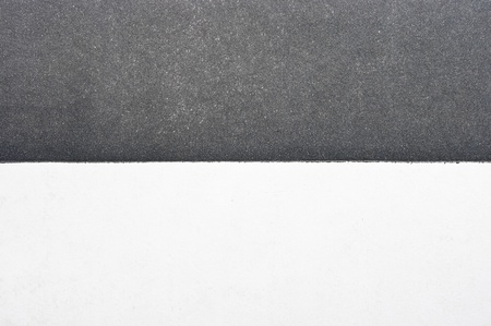 Black and white divided paper