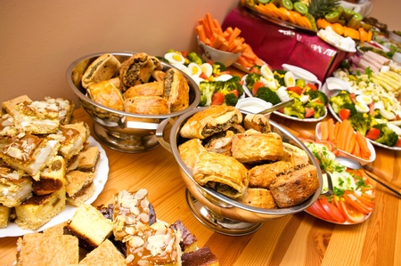 food buffet: Abundance of food on the table
