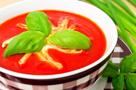 Traditional tomato soup in the bowl Stock Photo - 12204220