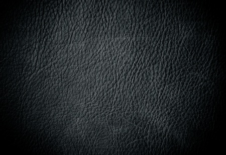 black leather texture: Black leather for background usage Stock Photo