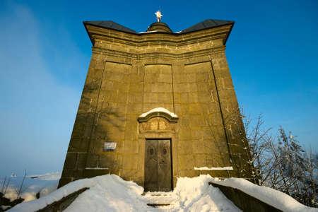 Chapel in Broumov Walls, Czech Republic photo