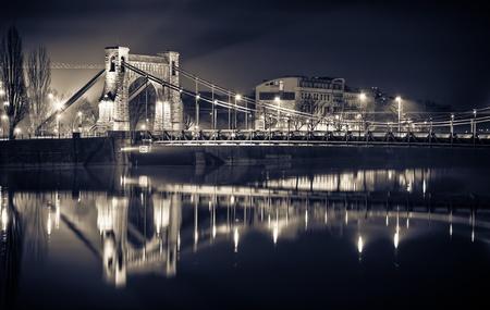 Grunwaldzki Bridge in Wroclaw, Poland photo