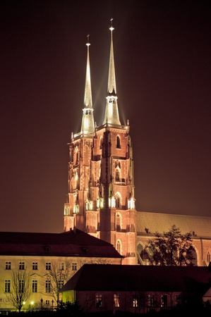Cathedral on Ostrow Tumski in Wroclaw, Poland photo