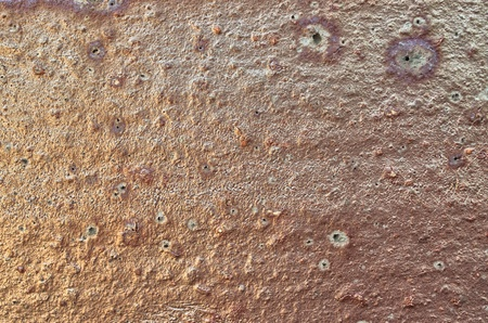 Old copper or rusty metal surface photo