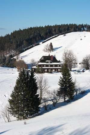 Andrzejowka mountain in polish Sudetes photo