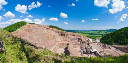 mining: Big quarry under the blue sky