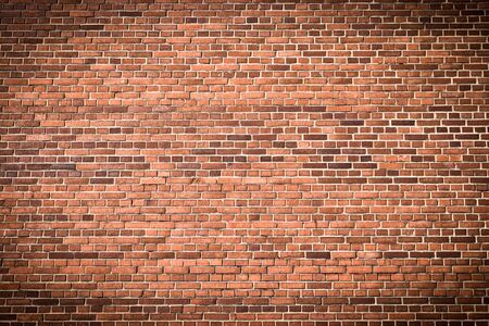 red wall: Brick wall with gradient for background usage