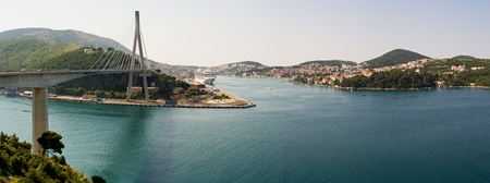 Panorama of Dubrovnik in Croatia photo