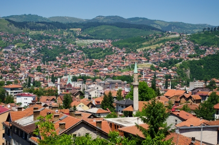saraybosna: Cityscape of Sarajevo, Bosnia and Herzegovina Stock Photo
