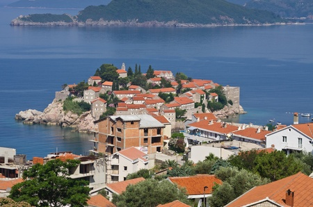 Sveti Stefan island in Montenegro photo