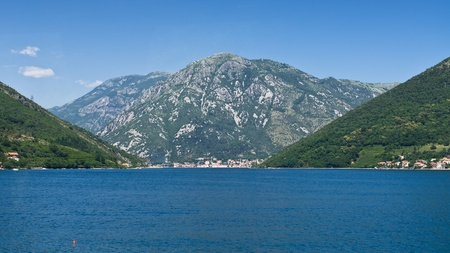 Adriatic sea shore on Balkan peninsula photo