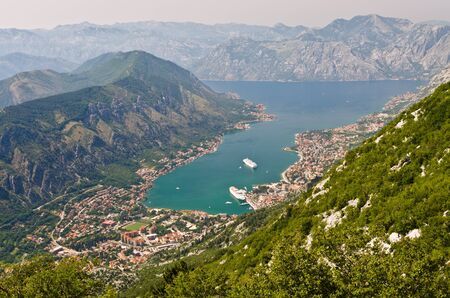 Kotor in Montenegro - view from mountains photo