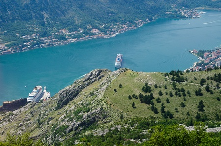 Ship near Kotor in Montenegro photo