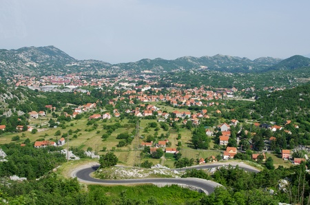 Balkan town in the mountains photo