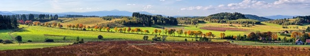 sudeten: Autumn panorama in the hills
