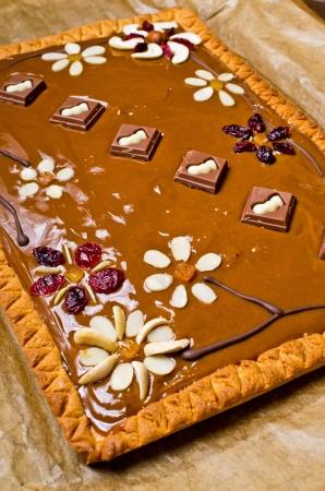 Traditional polish butterscotch Mazurek cake