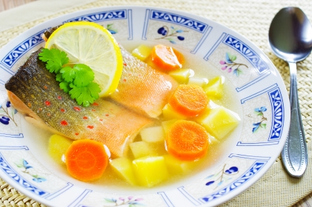 Traditional russian fish soup - uxa photo