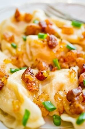 greaves: Traditional russian dumplings with greaves Stock Photo