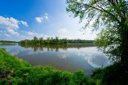 wroclaw: Odra river during the spring time
