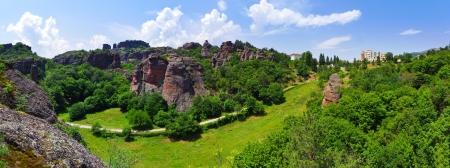 Belogradchik Rocks formation in Bulgaria