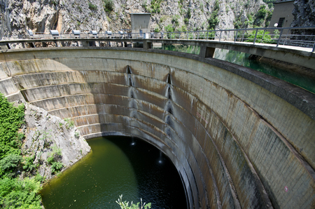 Dam in canyon Matka in Macedonia Stock Photo - 22280517