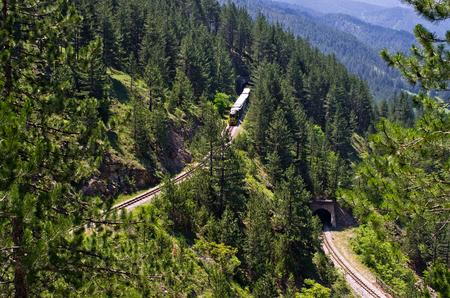 Railway of Sharganska Osmica near Mokra Gora in Serbia