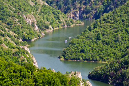 Canyon of Uvac river in Serbia