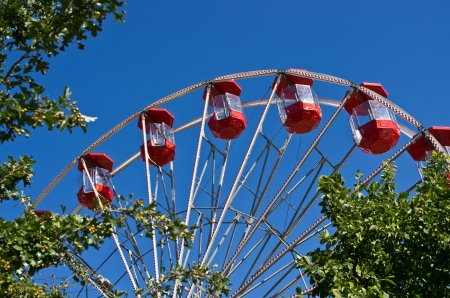 Ferris wheel and blue sky photo