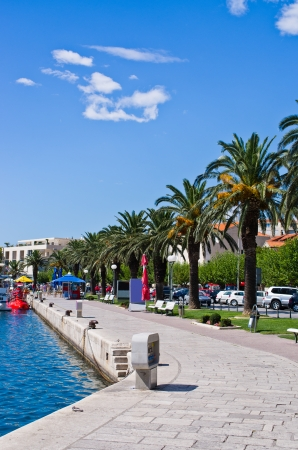 Beautiful promenade in the port of Makarska, Croatia