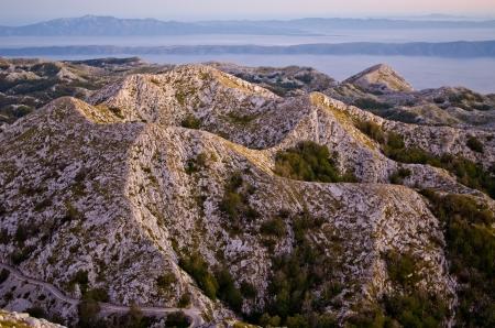 Stony mountains of Biokovo national park in Croatia photo