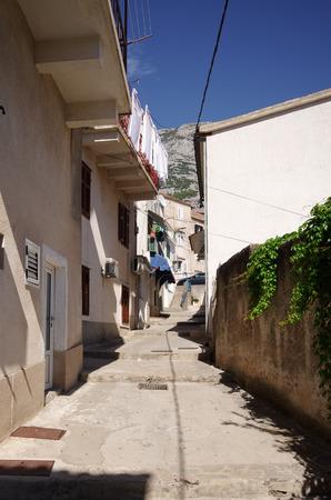 the balkan: Narrow street in old Balkan town