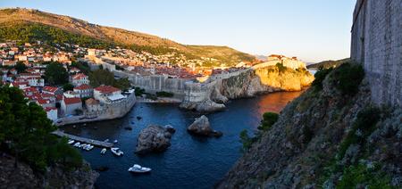 Walls of Dubrovnik city in panoramic view