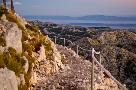 jure: Stony road on the sv. Jure mountain in Croatia