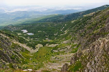 sudetes: Famous Sniezne Kotly valley in Karkonosze mountains, Poland