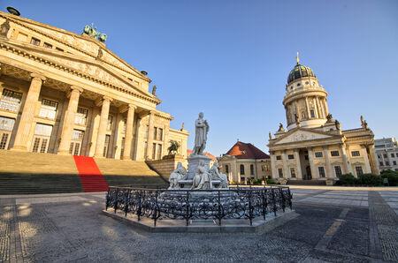 Scenery on gendarmenmarkt in Berlin - Germany photo