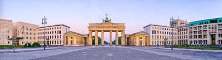Brandenburg Gate in panoramic view - Berlin, Germany