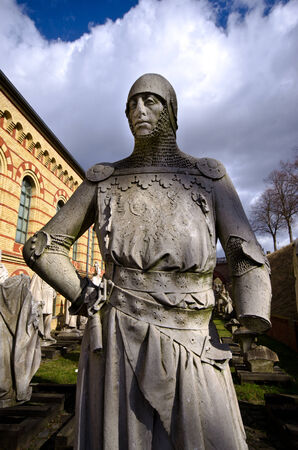 spandau: Old warrior statue in Berlin - Germany
