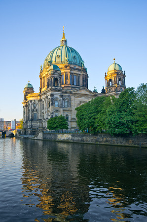 Berliner Dom over the Spree river - Germany photo