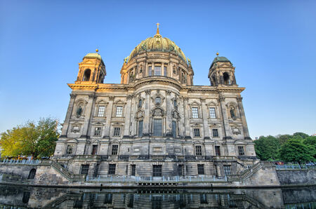 Berliner Dom over the Spree river in Germany photo