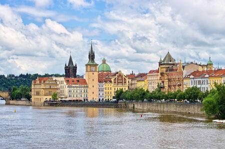 Vltava river in Prague - Czech Republic photo