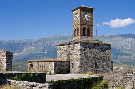 Ruins of old castle in Gjirokaster - Albania