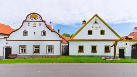 Holasovice - 古いボヘミアン村の家 写真素材