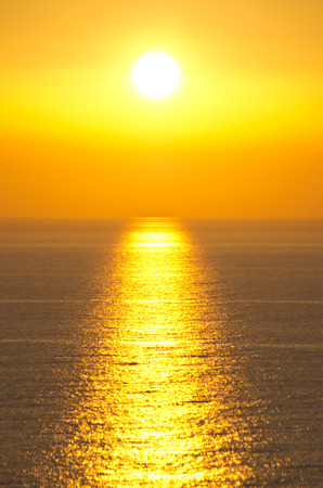Famous sunset in Perlouades village - Corfu island, Greece