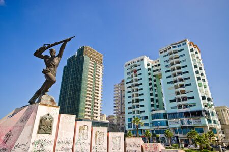 partisan: Monument of Partisan in Durres - Albania Editorial