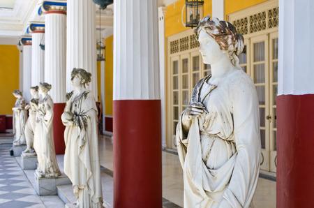 sissy: Statues in Achillion Palace in Corfu island - Greece