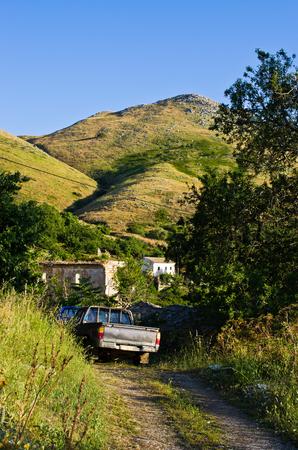 Classic pick-up truck on Corfu island - Greece Stock Photo