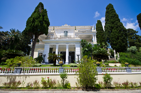 Achillion palace on Corfu island - Greece Editorial